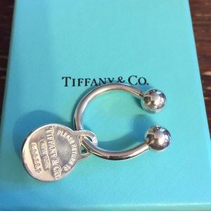 Tiffany & Co key ring sterling